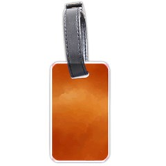 Orange Watercolor Luggage Tags (one Side)