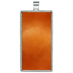 Orange Watercolor Rectangle Necklace by TimelessFashion
