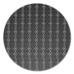 Circle Chic Grey Magnet 5  (round) by FEMCreations