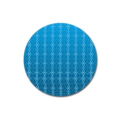 Circle Chic Blue Magnet 3  (round)