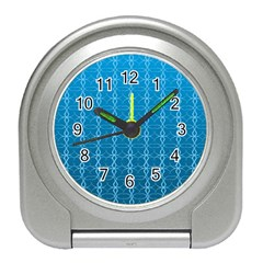 Circle Chic Blue Travel Alarm Clock
