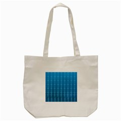 Circle Chic Blue Tote Bag (cream)