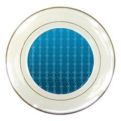 Circle Chic Blue Porcelain Plates