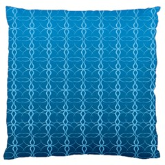 Circle Chic Blue Large Cushion Case (two Sides)