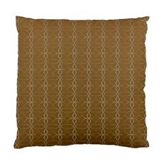 Circle Chic Brown Standard Cushion Case (one Side)