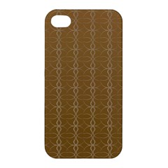 Circle Chic Brown Apple Iphone 4/4s Premium Hardshell Case