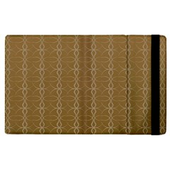Circle Chic Brown Apple Ipad Pro 12 9   Flip Case
