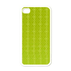 Circle Chic Yellow Apple Iphone 4 Case (white)