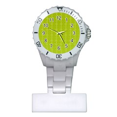 Circle Chic Yellow Plastic Nurses Watch