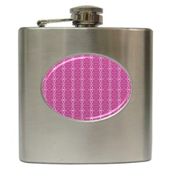 Circle Chic Pink Hip Flask (6 Oz)