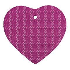 Circle Chic Pink Heart Ornament (two Sides)