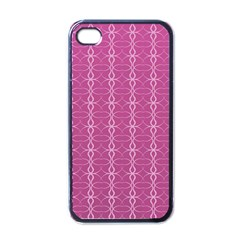 Circle Chic Pink Apple Iphone 4 Case (black)