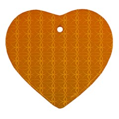 Circle Chic Orange Heart Ornament (two Sides)