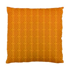 Circle Chic Orange Standard Cushion Case (two Sides)