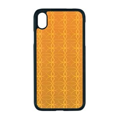 Circle Chic Orange Apple Iphone Xr Seamless Case (black)