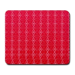 Circle Chic Red Large Mousepads