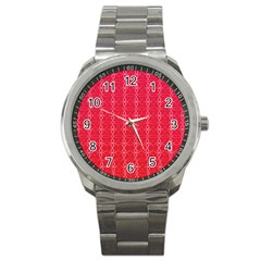 Circle Chic Red Sport Metal Watch