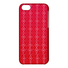Circle Chic Red Apple Iphone 5c Hardshell Case