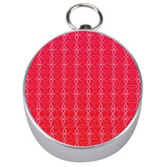 Circle Chic Red Silver Compasses