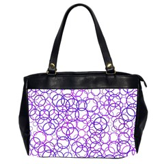 Surounded By Circles Oversize Office Handbag (2 Sides)