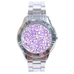 Surounded By Circles Stainless Steel Analogue Watch