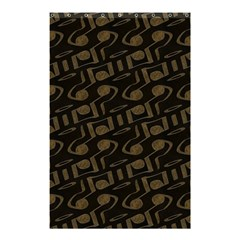 Abstract In Black And Gold Shower Curtain 48  X 72  (small)