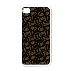 Abstract In Black And Gold Apple Iphone 4 Case (white) by TimelessDesigns