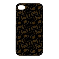 Abstract In Black And Gold Apple Iphone 4/4s Hardshell Case
