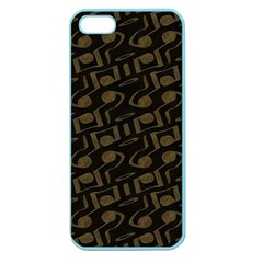 Abstract In Black And Gold Apple Seamless Iphone 5 Case (color)