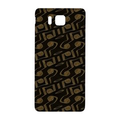 Abstract In Black And Gold Samsung Galaxy Alpha Hardshell Back Case