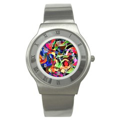 Artistic Chaos Stainless Steel Watch