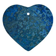 Beautifull Blue Heart Ornament (two Sides)