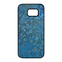 Beautifull Blue Samsung Galaxy S7 Edge Black Seamless Case by TimelessDesigns