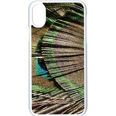 Peacock Feather Apple Iphone X Seamless Case (white)