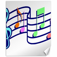Music Notes Canvas 16  X 20  by StarvinArtisan