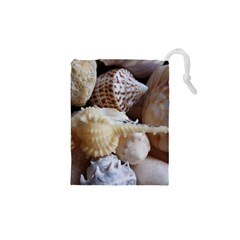 Sea Shells Beach Shells Drawstring Pouch (xs)