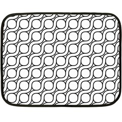 Between Circles Double Sided Fleece Blanket (mini)