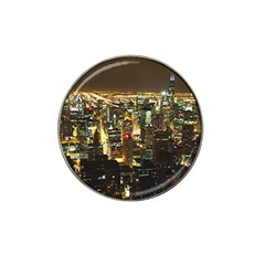 Night Life In Chicago Hat Clip Ball Marker (10 Pack) by StarvinArtisan