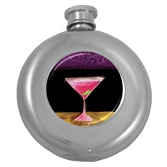 Cosmo Beverage Round Hip Flask (5 Oz) by StarvinArtisan