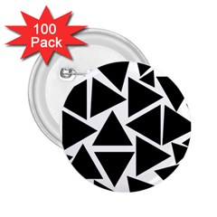 Black Triangles 2 25  Buttons (100 Pack)  by TimelessDesigns