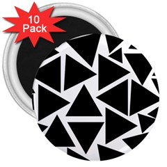 Black Triangles 3  Magnets (10 Pack)