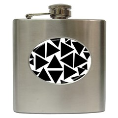 Black Triangles Hip Flask (6 Oz)