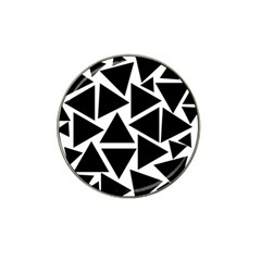 Black Triangles Hat Clip Ball Marker (10 Pack)