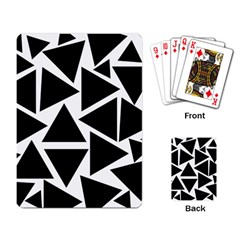 Black Triangles Playing Cards Single Design