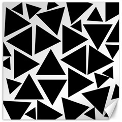 Black Triangles Canvas 16  X 16  by FEMCreations