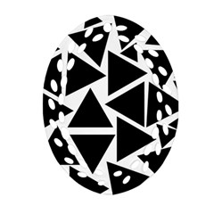 Black Triangles Ornament (oval Filigree)