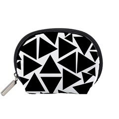 Black Triangles Accessory Pouch (small) by TimelessFashion
