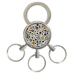 Black Versus Brown 3 Ring Key Chains