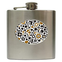 Black Versus Brown Hip Flask (6 Oz) by TimelessDesigns