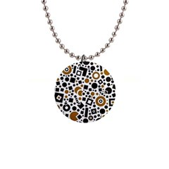 Black Versus Brown 1  Button Necklace by TimelessFashion